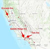 A map of all the major fires still burning in California Cal Fire Business Insider