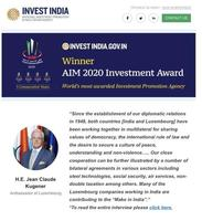 Interview in Invest India magazine