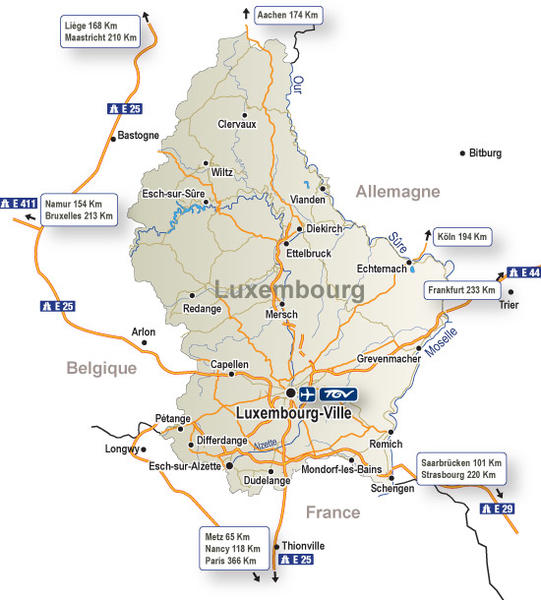 Luxembourg - carte-generale