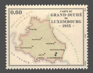 Timbre - Carte Luxembourg 1815