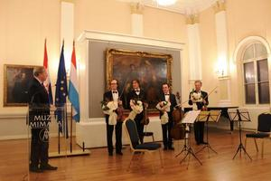 Ambassador Georges Santer and the Quatuor Louvigny
